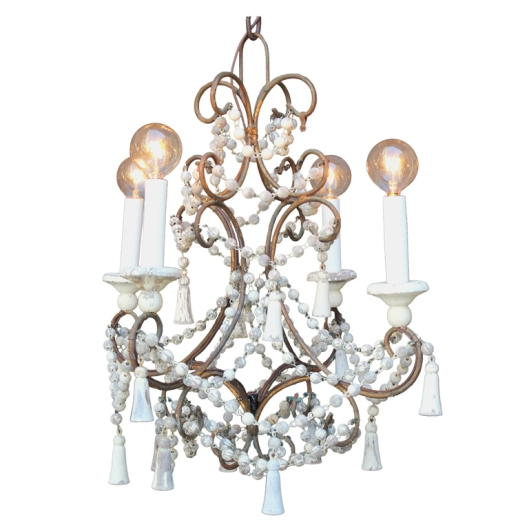 1stDibs.Wood.Bead.Chandelier.5