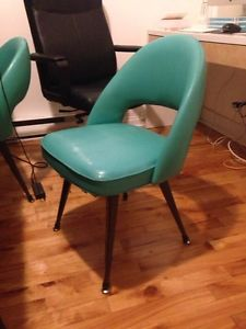 Four.Turquoise.Vinyl.Chairs