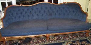 Vintage.Blue.Sofa