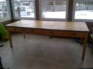 Antique.Quebec.Refectory.Table